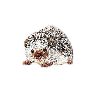 Hedgehog - Hedgie - Erinaceinae  - Embroidered Iron On Applique Patch