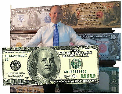 GIANT $100 DOLLAR BILL - HUGE MONEY CANVAS Large Big Poster Picture Painting Art