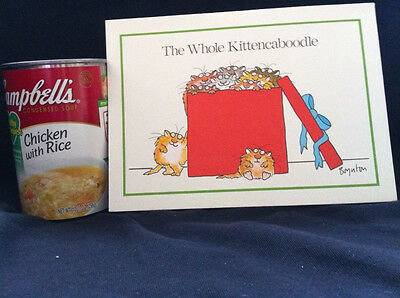 Vintage Boynton Furry Christmas Cards 15 The Whole Kittencaboodle Cats Kittens