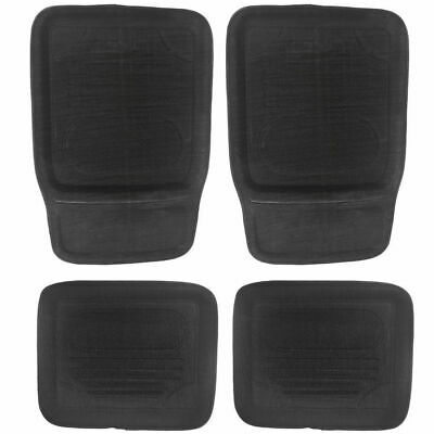 Universal Car Floor Mats Durable Tray Style 4 Set Front/Back Large Non-Skid