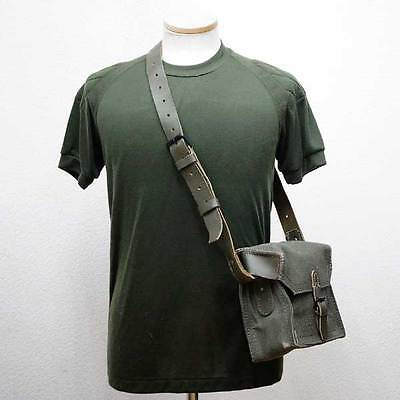 New small 1950s French army canvas messenger shoulder bag satchel military dark