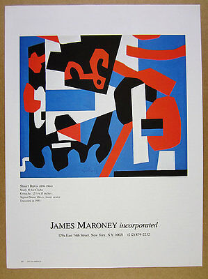 1985 Stuart Davis 'Study 1 for Cliche' painting art NYC gallery vintage print Ad