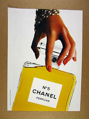 1985 Chanel No5 Perfume big classic bottle photo vintage print Ad
