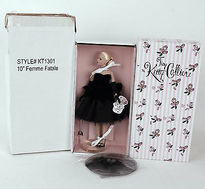 """Tiny Kitty Collier Femme Fatale 10"""" Doll Tonner Company KT1301 Stand Shipper NIB"""
