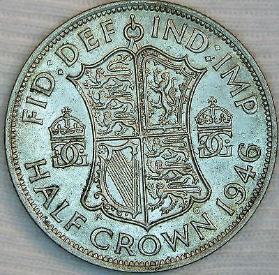 Great Britain 1946 Silver 1/2 Crown   #15-42