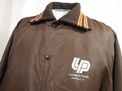 Vintage • Louisiana-Pacific Oroville, CA Rail Road Jacket XL Brown