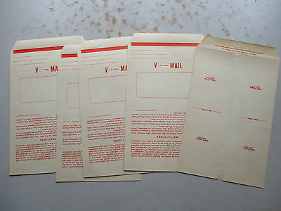 V-Mail - FIVE Unused NOS Original WWII Letter Papers