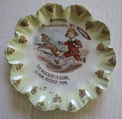 Advertising Plate Buster Brown Souvenir of Sunderlinville, PA