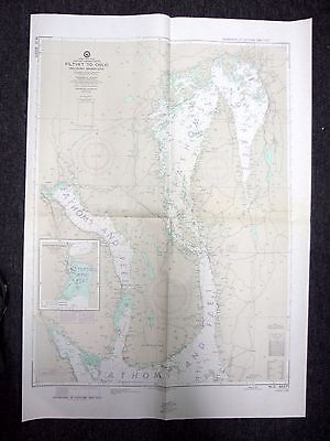 1959 Defense Mapping Agency Nautical Chart Filtvet to Oslo Norway 43371 6th Ed