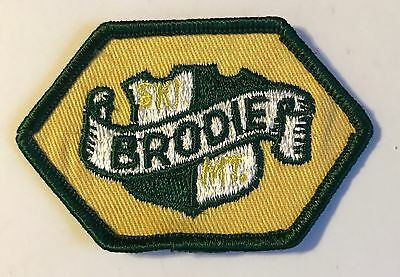 BRODIE Lost Ski Area 1964-2002 Skiing Patch New Ashford MASSACHUSETTS MA Travel