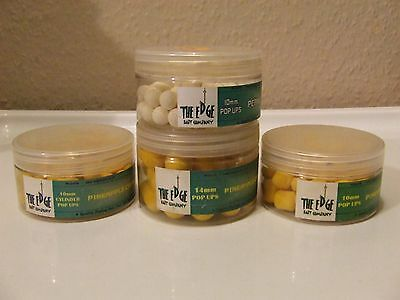 carp fishing x4 tubs of (the edge) pop-ups mixed flavours,sizes and colours.