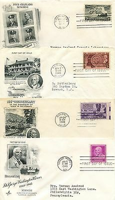 1948 Fdc, Complete Year 28 Covers