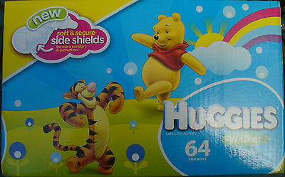 Huggies Nappies  Walker 64  For Boys 13-18 Kg  New