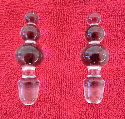 Vintage IMPERIAL CANDLEWICK 3-BEAD STOPPERS CRUET
