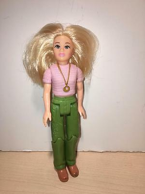 Loving Family Mom Doll Purple top green pants Blonde rooted hair necklace ring *