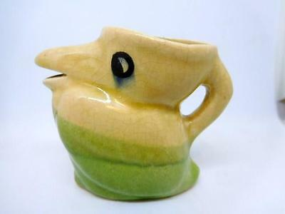 Vintage Pelican Creamer - Pastel Colors - Could Be Used As Toothpick Holder NICE