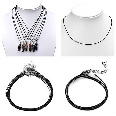 Wholesale 1mm Black Wax Cord Rope Braided Necklace 18 inch for Necklace Pendant