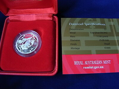 Australia. 2016 - Silver Proof ($1). Lunar Series - Year of the Monkey..  Cased