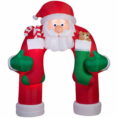 Christmas Santa Animated Mustache  Archway Arch Candy Cane Airblown Inflatable