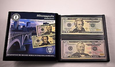 2004 Evolutions $20 $50 Bill Matching Set Low Serial Minneapolis