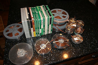 Lot of Vintage Used Reel to Reel Tapes Home Recordings Over 40 Reels