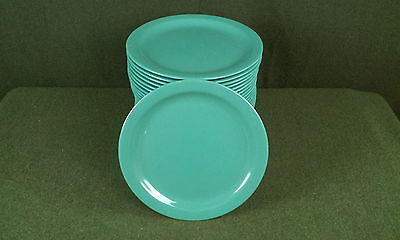 "28 Green Dallas Ware 10-1/4"" Dinner Plates N43500"