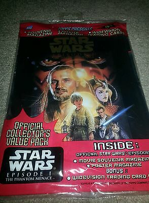 Sealed Star Wars Souvenir Magazine Episode 1 The Phantom Menace w/ Cards Topps