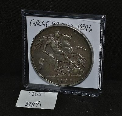 West Point Coins ~ 1896 Great Britian Crown Silver Coin KM#783