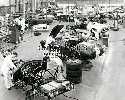 1967 Carroll Shelby Ac Cobra Mustang Assembly Manufacturer Shop Photo Muscle Car