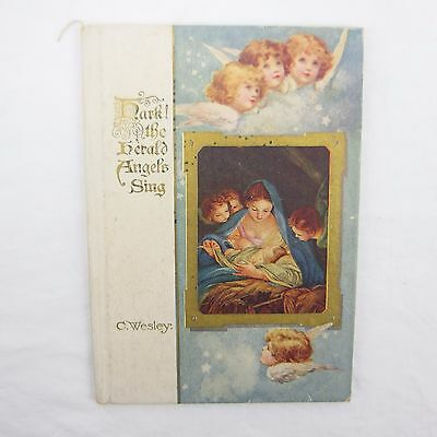 1933 Hark! The Herald Angel Sings by C. Wesley Illuminated Christmas Hardcover