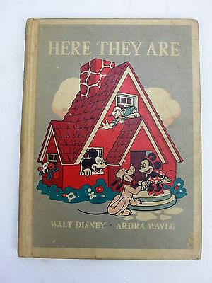 1940 Here They Are Walt Disney Mickey Mouse Book