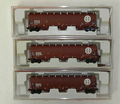 3 x InterMountain N Scale BNSF 3 Bay Cylindrical Covered Hoppers