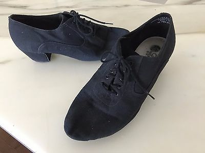 Black dancesport character laceup shoes Size 9w