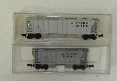 2 x Atlas N Scale Western Pacific Covered Hoppers