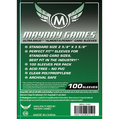 """Mayday Games """"Almost-a-Penny"""" Sleeves 2 5/8"""" x 3 5/8"""""""