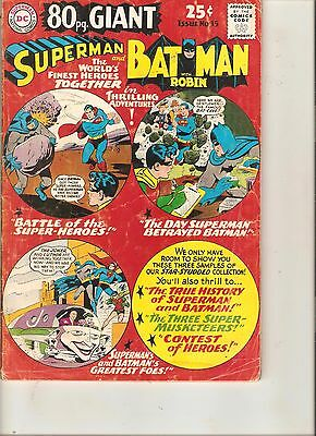 80 Page Giant  SUPERMAN And BATMAN # 15