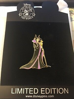 2006 Disney Store/DisneyShopping.com  Maleficent with Staff and Raven pin LE 250