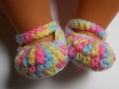 Multicoloured Mary Jane booties/shoes/slippers - Dolls Clothes for Baby Born