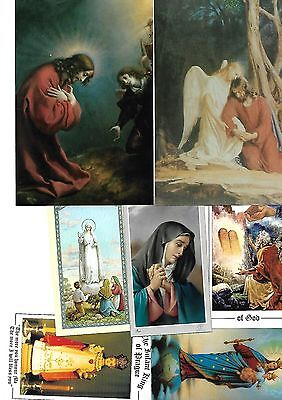 Collection Of Holy Pictures Estate Vintage Used As Per Picture