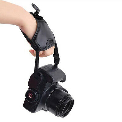 DSLR Camera PU Leather Grip Rapid Wrist Strap Soft Hand Grip Black Camera Bag