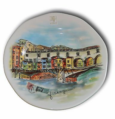 OPIFICIO ETICO ~ MADE IN ITALY PAINTED ITALIAN CITIES LANDSCAPES PLATE SET x 4