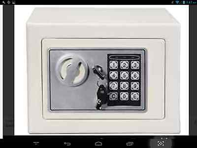 HOMDOX Safe Deposit Box Digital Electronic Security Box with L - WHITE