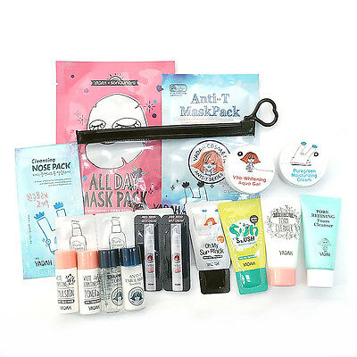 [YADAH] Sample Kit C Type #Sets For Whitening And Pore Care With 2 Mask Packs