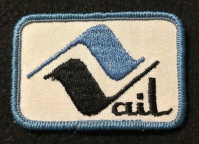 VAIL Skiing Ski Patch COLORADO CO Travel Uncommon SKY BLUE BORDER