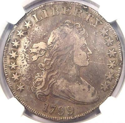 1799 Draped Bust Silver Dollar $1 - Certified NGC Fine Details - Rare Coin!