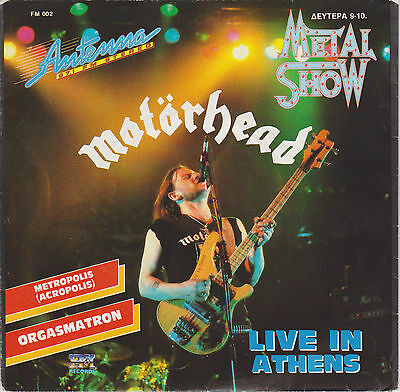"MOTÖRHEAD - Live In Athens (Very Rare 1000 copies Greek only 7""!!!)"