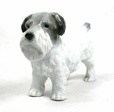 Vintage Sealyham Terrier Figurine Ornament Hand Painted