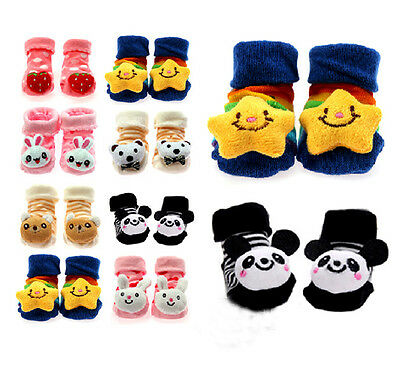Unisex Newborn Baby Soft Anti-slip Socks Animal Shoes Boots Fit for 0-6 Months