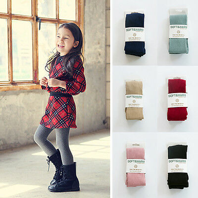 Baby Kids Girls Solid Cotton Warm Tights Socks Stockings Pants Hosiery Pantyhose