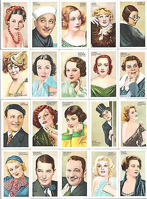 1934,gallaher Ltd,champions Of Screen & Stage-Red Back,full Set Of 48 Cards